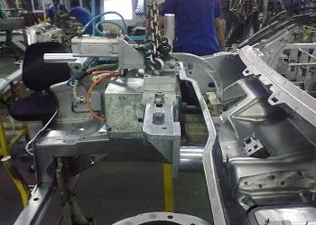 طراحی ، ساخت و راه اندازی جیگ و فیکسچر شرکت پارس خودرو -مگان